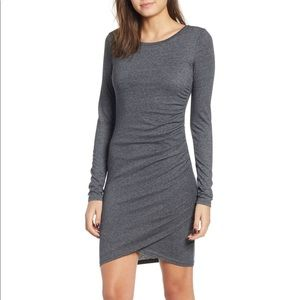 Leith Long Sleeved Ruched dress, size large